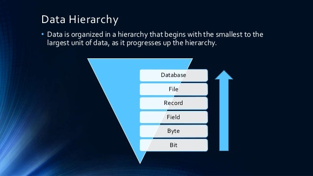 Data Hierarchy Amp Keys Database Management System