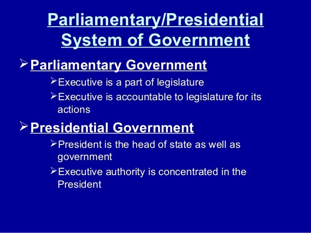 Organization of the government