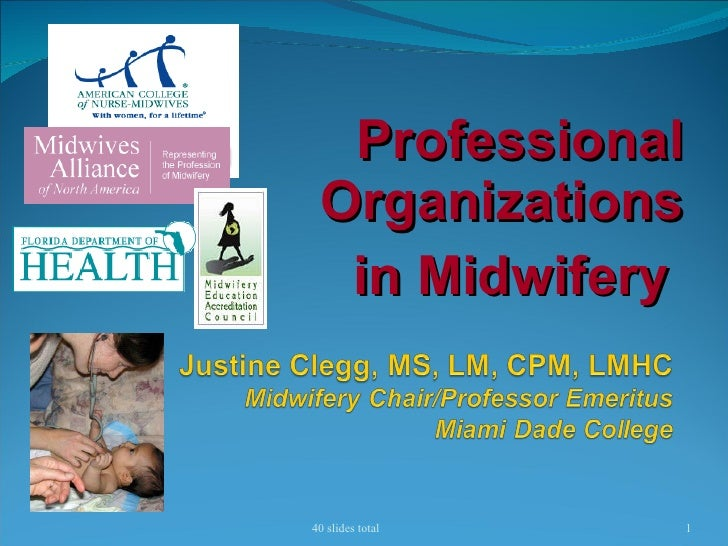 Professional Organizations in Midwifery  40 slides total