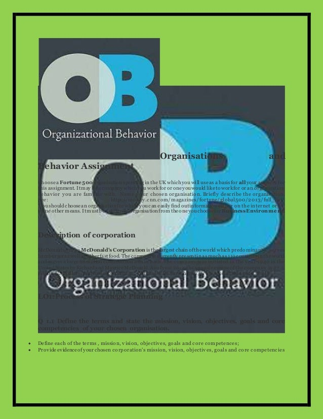 management and organisational behaviour example of assignment 2