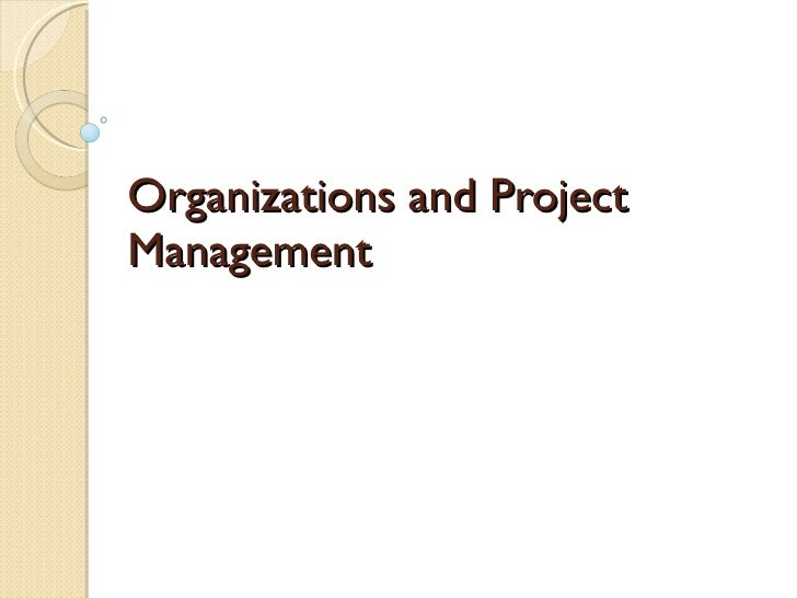 Organizations and Project Management