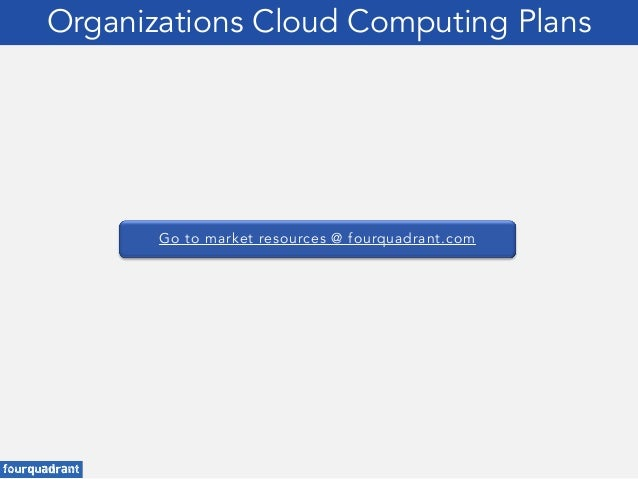 Go to market resources @ fourquadrant.com Organizations Cloud Computing Plans