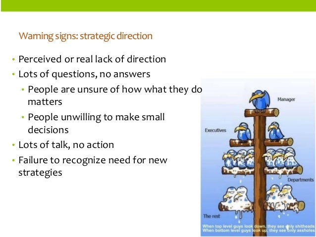 ORGANIZATIONSTRUCTURES  •Perceived or real lack of direction  •Lots of questions, no answers  •People are unsure of how wh...