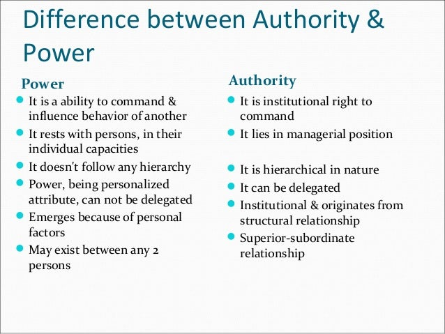 relationship btw power influence authority and legitimacy