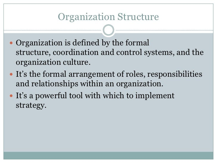 description of the organization You define items in one organization to distinguish it from others, we call it the item master organization other organizations (child organizations.