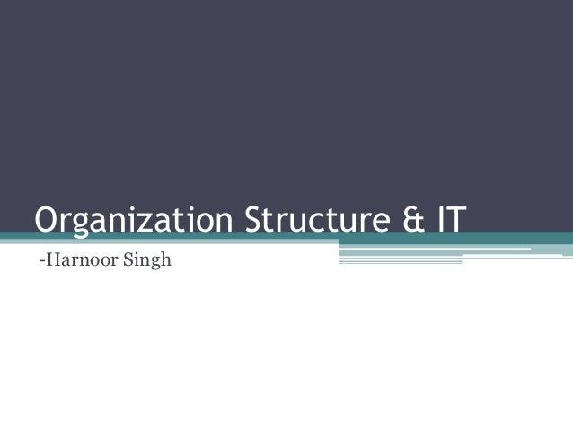 Organization Structure & IT -Harnoor Singh