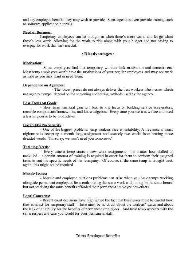 Organization structure & temporary recruitment