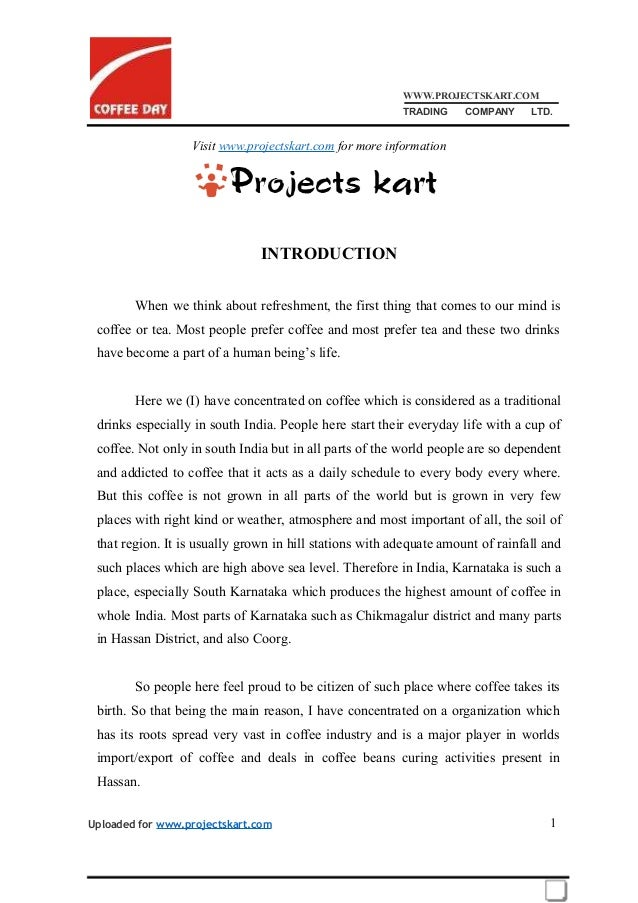 WWW.PROJECTSKART.COM TRADING COMPANY LTD. Visit www.projectskart.com for more information INTRODUCTION When we think about...