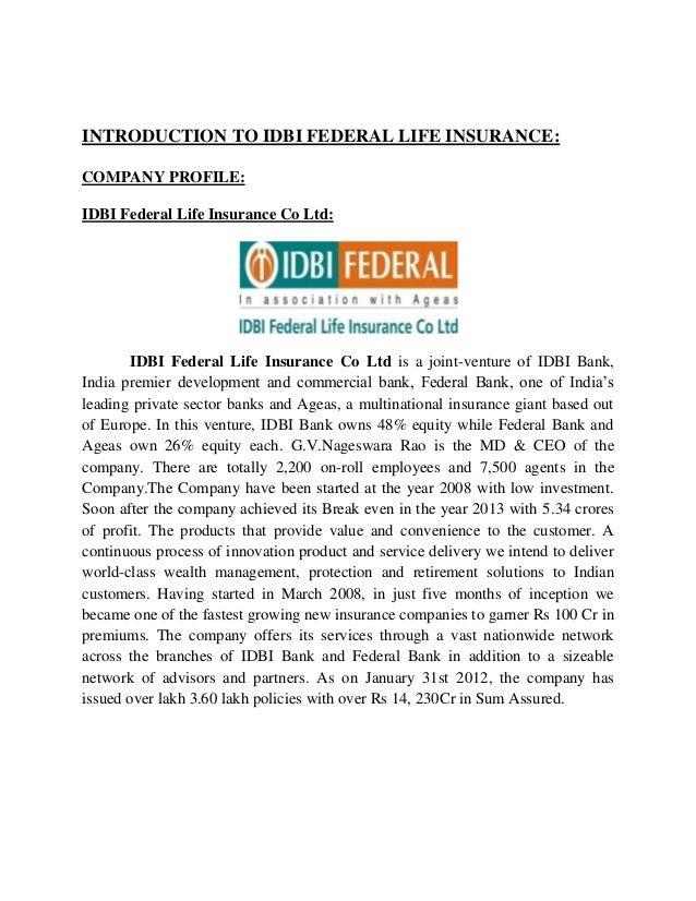 Insurance Idbi Bank