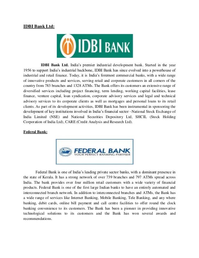idbi bank establishment year