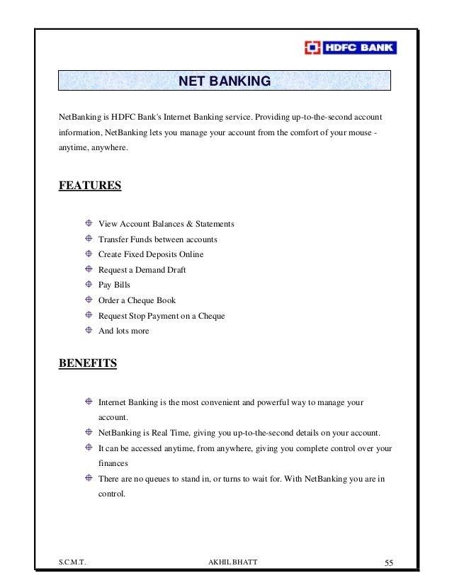 Organization Study On Hdfc Bank