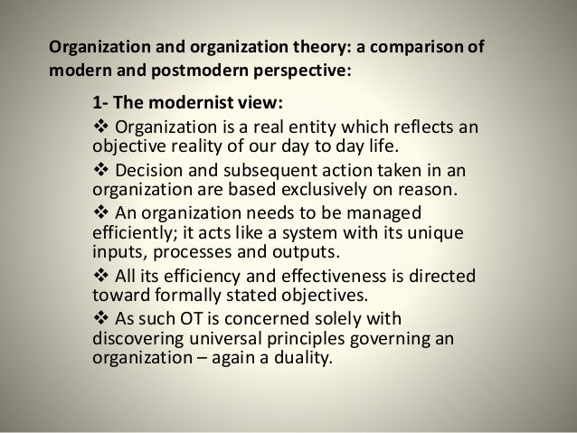 organization theory A scientific theory that suggests that relationships in complex, adaptive systems are made up of numerous interconnections that create unintended effects and render.