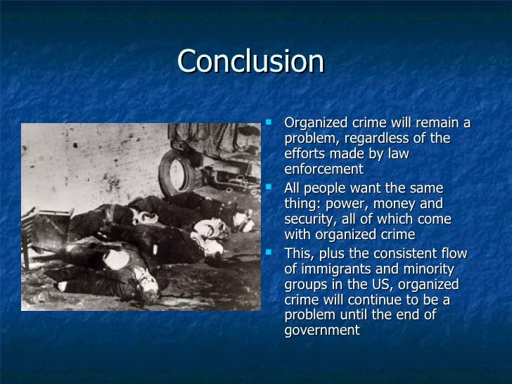 thesis for organize crime National coordinating committee on organized crime the national coordinating committee on organized crime (ncc) was established to help advance the national agenda.