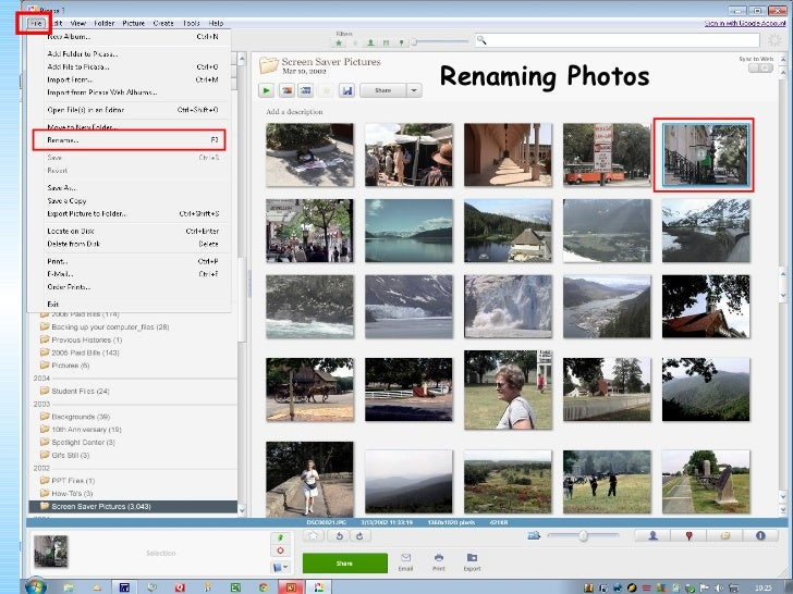 Additional W of Organizing Your            ays         Photos in Picasa