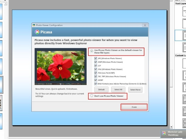 Picasa does a lot of the    organizing for you