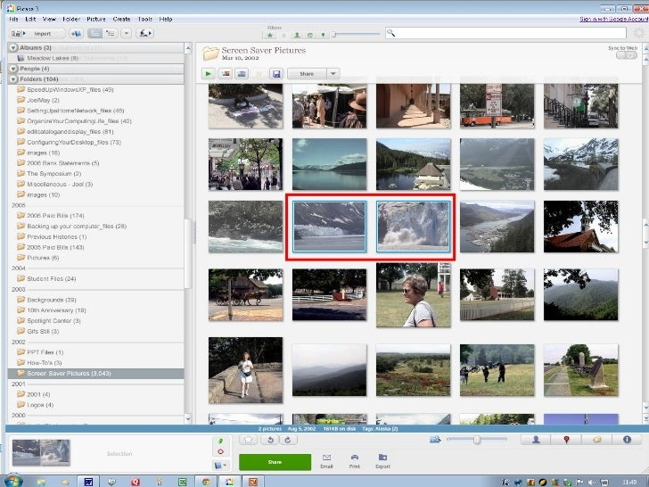 W to Share Photos in Picasa      ays• Print the photos• Create a slide show• Email the photos•   Create a Web album•   Cre...