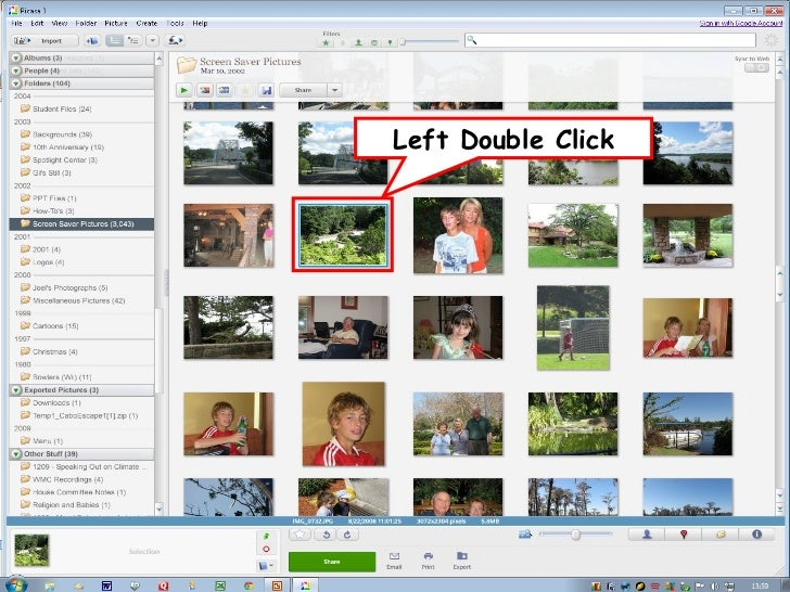 W to Share Photos in Picasa      ays•   Print the photos•   Create a slide show•   Email the photos•   Create a Web album•...