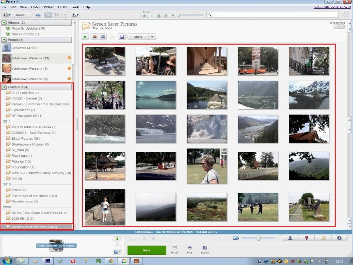 Get Photos from a     Create a NewCamera, Scanner, or      Album       Set View to Show Flatother Media                   ...