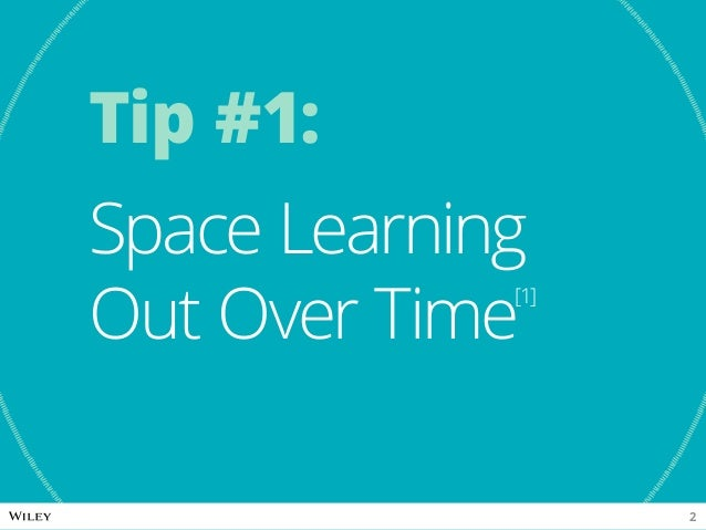 Tip #1: Space Learning Out Over Time[1] 2
