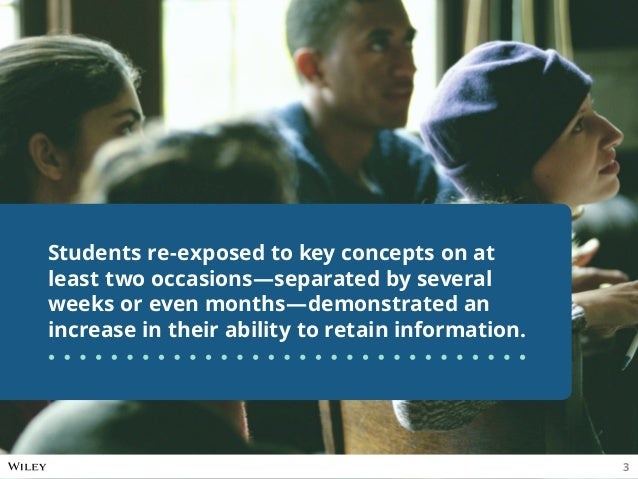 Students re-exposed to key concepts on at least two occasions—separated by several weeks or even months—demonstrated an in...