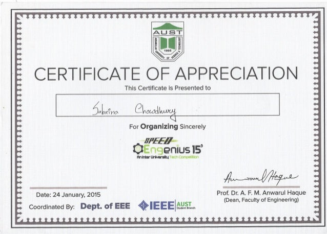 Certificate of appreciation speed engenius 15 organizer certificate of appreciation speed engenius 15 yadclub Images