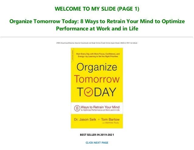 Organize Tomorrow Today PDF Free download