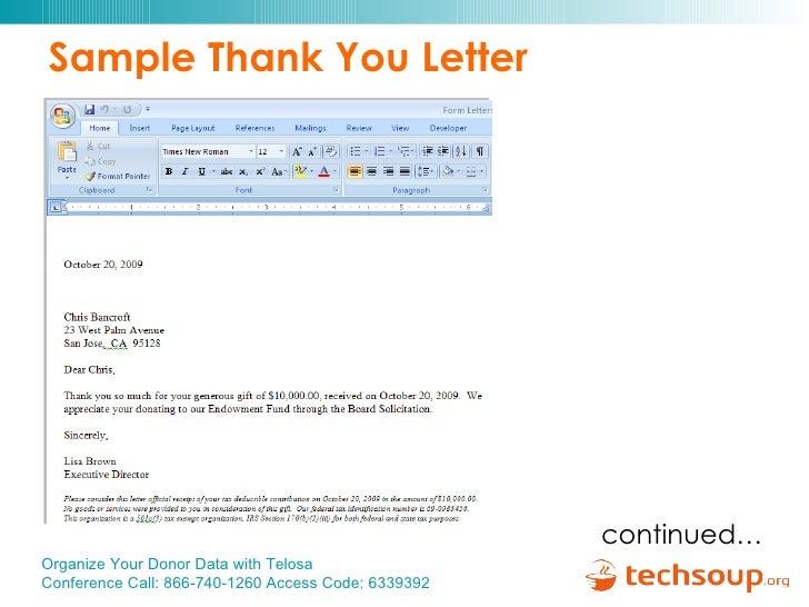 Sample Thank You Letter For Memorial Gift – Gift Ftempo
