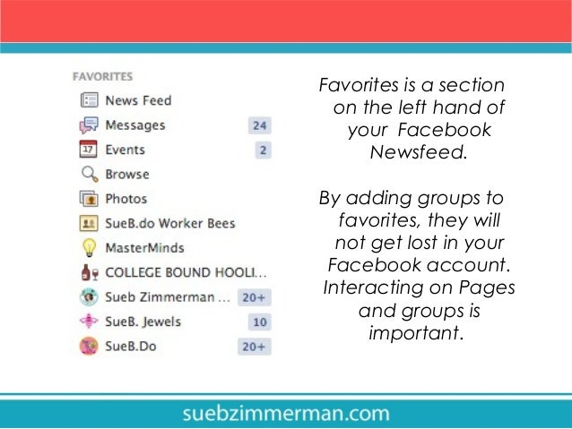 how to organize your facebook with favorites