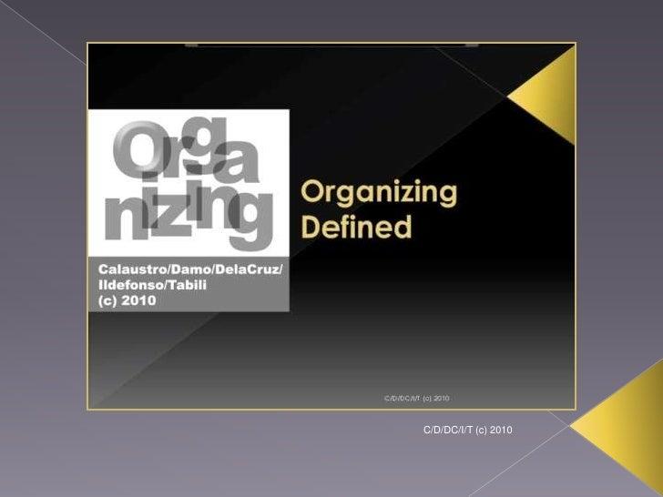 Organizing (Management Functions) Slide 3