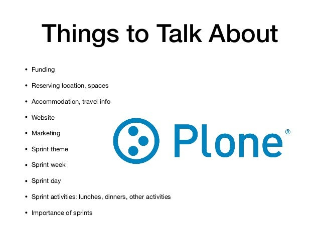 Organizing a Plone Sprint -  Lessons Learned, Case Midsummersprint 2017 Slide 3