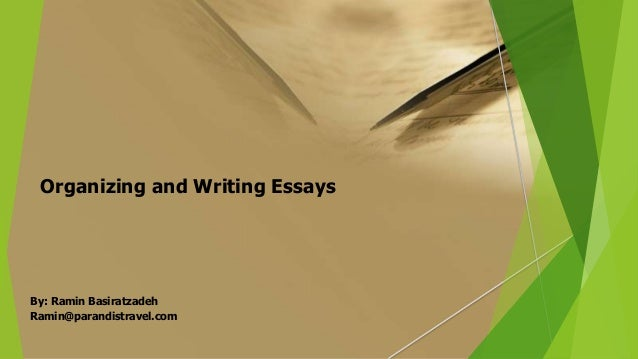 organizing an essay Organization of an essay is one of the strategies to ensure your argument is clearly communicated to the reader the most common essay format is the five-paragraph essay, which follows the basic structure: introduction paragraph, three body paragraphs and conclusion paragraph.