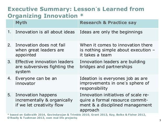 Organizing for Innovation Lemon Consulting Slide 3