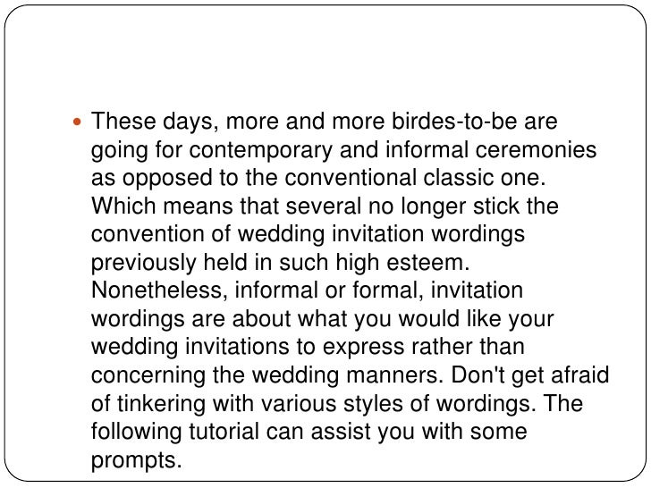 Organizing formal wedding invitation cards formal the wedding party invitation cards must be 3 stopboris Gallery
