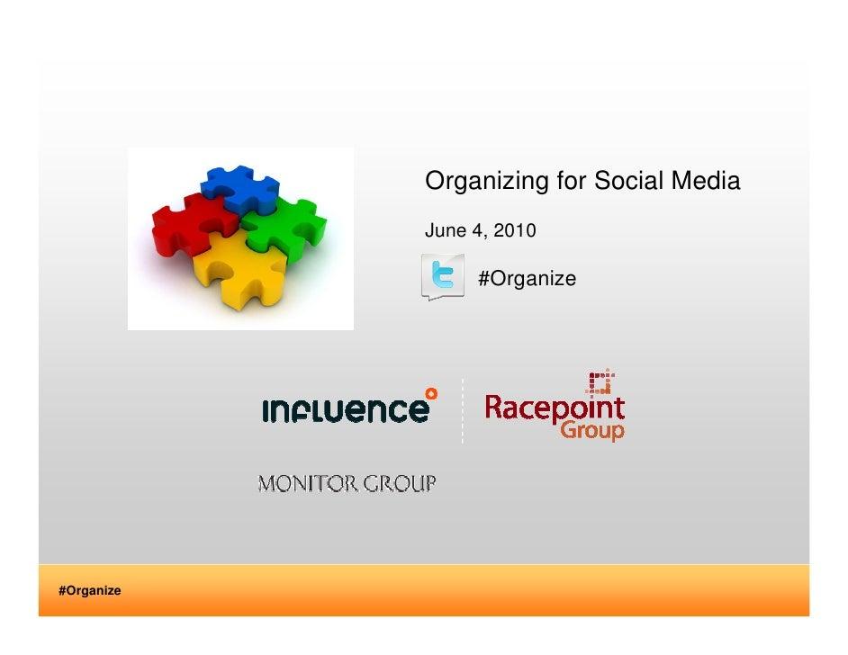 Organizing for Social Media             June 4, 2010                   #Organize     #Organize