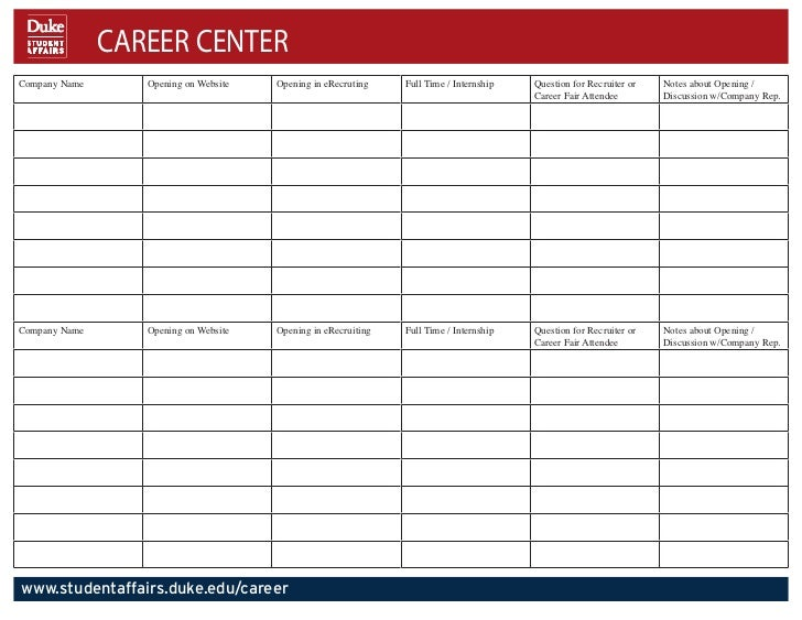 CAREER CENTERCompany Name      Opening on Website   Opening in eRecruting    Full Time / Internship   Question for Recruit...