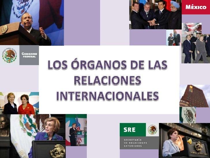 LOS ÓRGANOS DE LAS RELACIONES INTERNACIONALES<br />