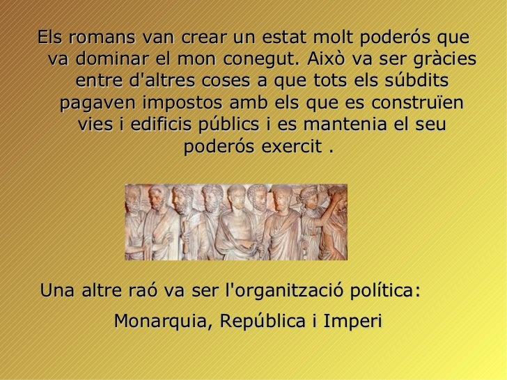 Organització Política de l'imperi Romà Slide 2