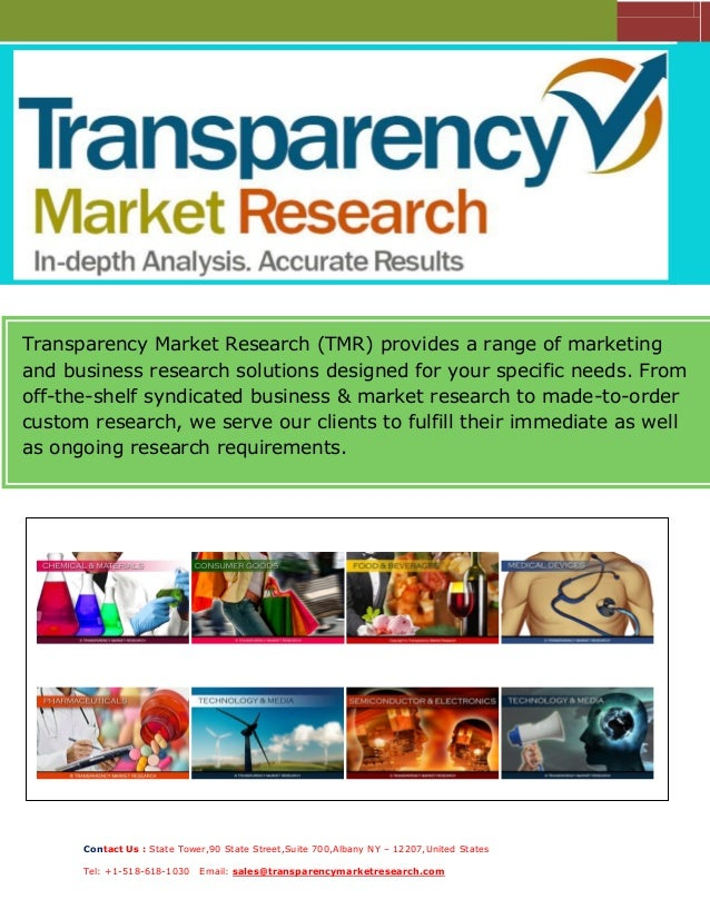 Transparency Market Research (TMR) provides a range of marketing and business research solutions designed for your specifi...