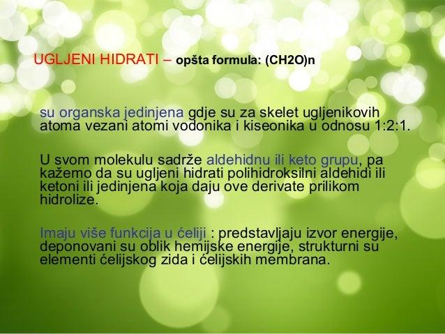 MONOSAHARIDI -su prosti šećeri koji se hidrolizom ne mogu daljerazlagati, a oksidacijom daju ugljen-dioksid i vodu,krajnje...