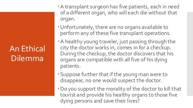 ethical questions about organ donation