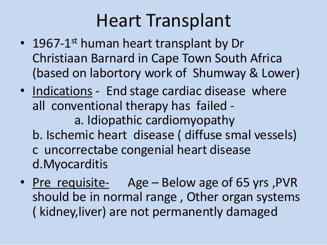 Heart Transplant • 1967-1st ...