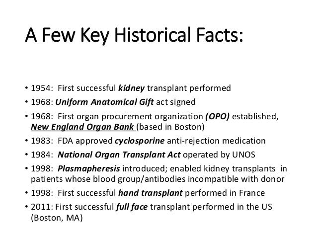 Organ donation and transplantation essay