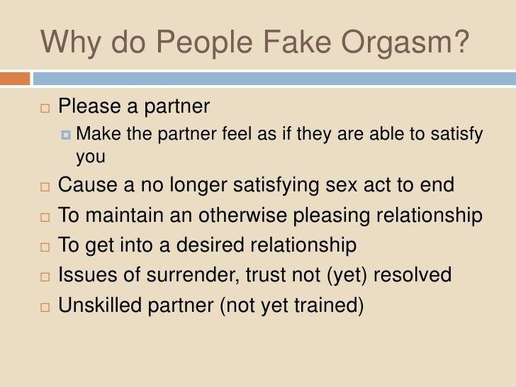 Why do we orgasm