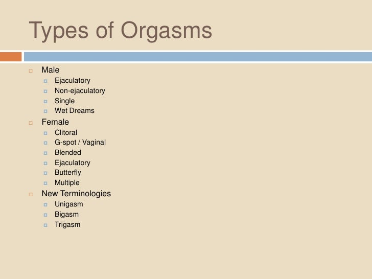 Difference between female and male orgasm