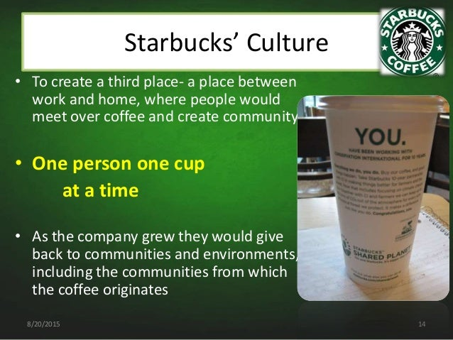 "organizational culture communication created within starbucks The secret recipe to starbucks behar made up ""h2o,"" the great leadership team which established starbucks' culture how starbucks created the."