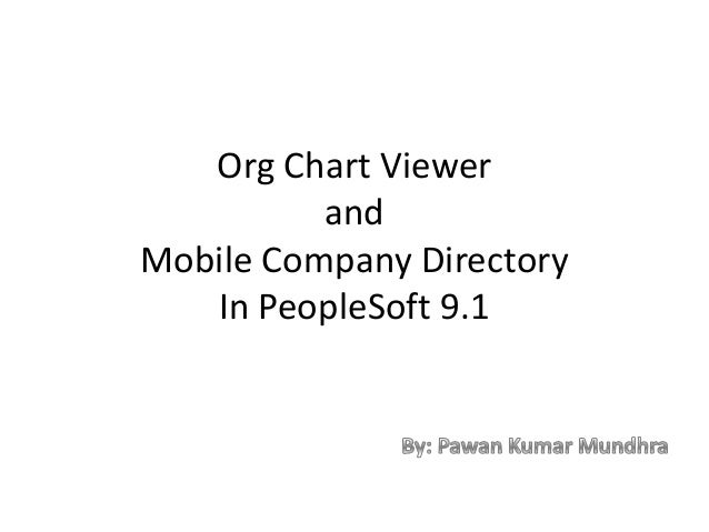 Org Chart Viewer          andMobile Company Directory   In PeopleSoft 9.1