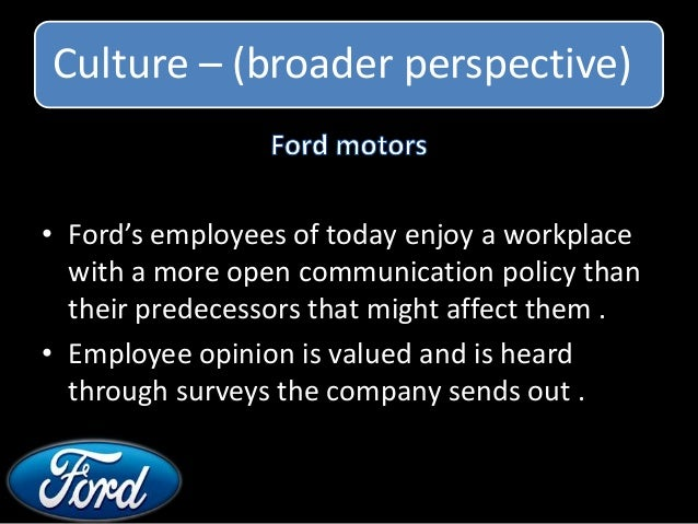Comparison between organisational cultures of indain and for Ford motor company customer satisfaction survey