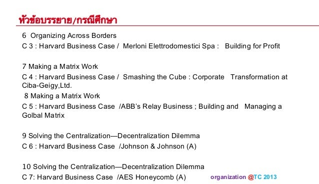 Smashing the Cube: Corporate Transformation at CIBA-GEIGY Ltd. Case Study Analysis & Solution