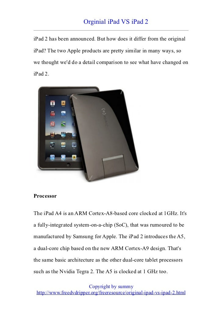 Orginial iPad VS iPad 2iPad 2 has been announced. But how does it differ from the originaliPad? The two Apple products are...