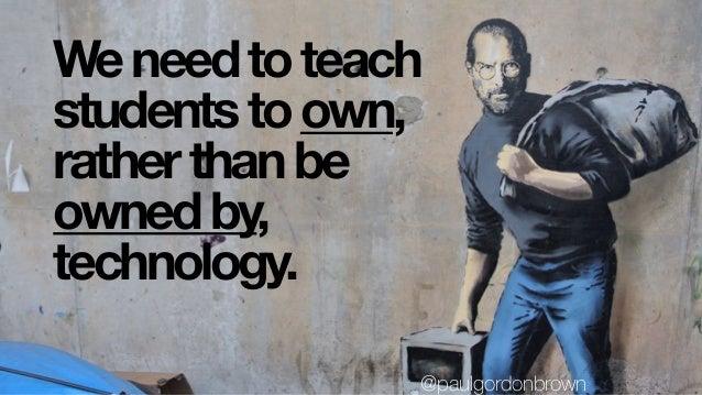 don't teach fearwith @paulgordonbrown